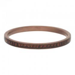 Ring cyrkonia ceglany topaz 2 mm brązowy