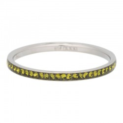 Ring cyrkonia oliwkowa 2 mm srebrny