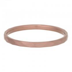 Ring młotkowany 2 mm brązowy