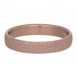 Ring piaskowany 4 mm brązowy