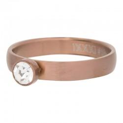 Ring 1 oczko cyrkonia 4 mm brązowy