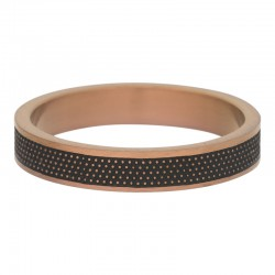 Ring kropki 4 mm mat brązowy