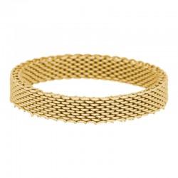 Ring siatka 4 mm złoty