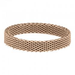 Ring siatka 4 mm różowe złoto