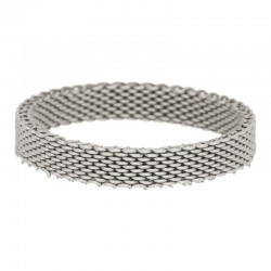 Ring siatka 4 mm srebrny