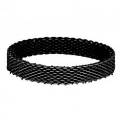Ring siatka 4 mm czarny