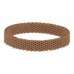 Ring siatka 4 mm brązowy