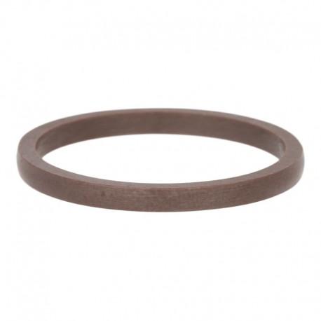 Ring ceramiczny 2 mm brązowy