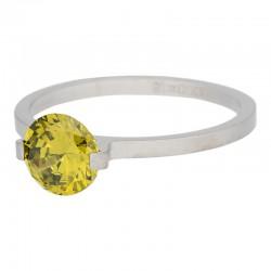Ring kamień Glamour 2 mm mat srebrny