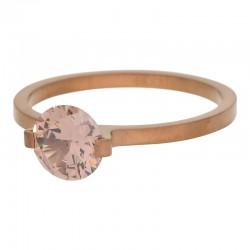 Ring kamień Glamour 2 mm brązowy
