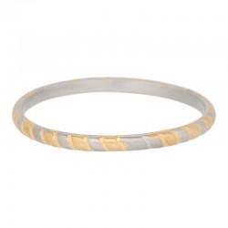 Ring linia 2 mm srebrno-złoty