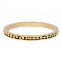 Ring mambo 2 mm mat złoty
