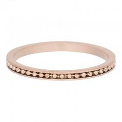Ring mambo 2 mm mat różowe złoto