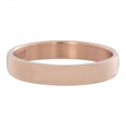 Ring gładki różowe złoto