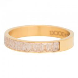 Ring płatek śniegu 4 mm złoty