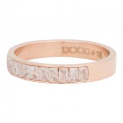 Ring płatek śniegu 4 mm różowe złoto