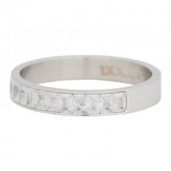 Ring płatek śniegu 4 mm srebrny