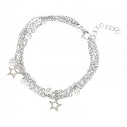 Bransoletka gwiazdki + kulki kryształowy