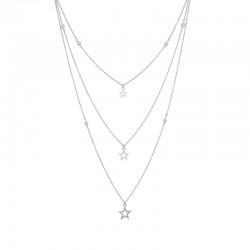 Naszyjnik gwiazdki + kulki kryształowy 39 - 62 cm